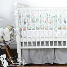 peach nursery bedding blue peach green little llama baby boy crib bedding set decor 2 door peach nursery bedding