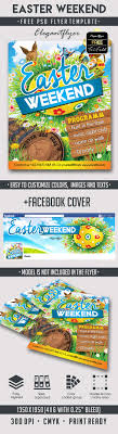 easter weekend free flyer psd template facebook cover s