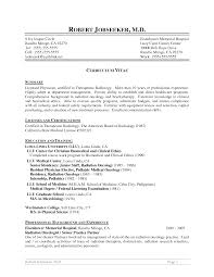 Cover Letter Radiologist Resume Consultant Radiologist Resume