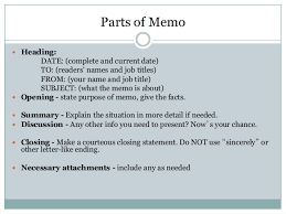 Memo Letter Memo And Other Letter Formats