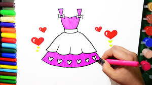 Drawingcolor Draw Color Paint Barbie Heart Dress Coloring Pages And Learn