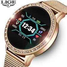 New 2021 <b>LIGE Ladies Smart Watch</b> Women Fashion Sports Heart ...
