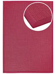 Sisal Teppich Mara Rot Mit Polyesterbordüre