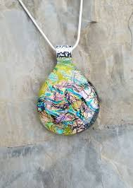 fused glass jewelry dichroic glass