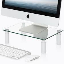fitueyes home office monitor riser stand with adjule leg 38 5x24cm