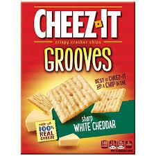 sharp white cheddar. cheez-it grooves sharp white cheddar s