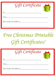 Make Your Own Gift Certificates Free Free Gift Certificate Customizable Christmas Template Certificates