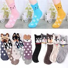 Fashion women animal socks lovely 3D dogs <b>cat</b> autumn <b>warm</b> ...