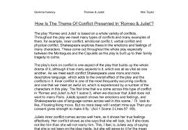 how is the theme of conflict presented in romeo juliet gcse  document image preview