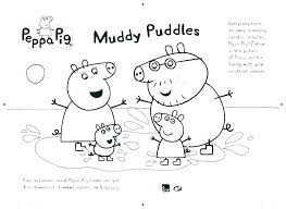 Peppa Pig Coloring Pages Pdf Printable Colouring To Print Line In
