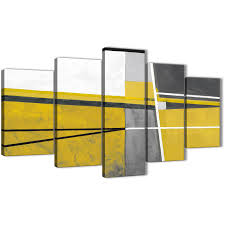 oversized 5 piece mustard yellow grey painting abstract bedroom canvas wall art decor 5388 display gallery item 1  on grey and mustard yellow wall art with 5 panel mustard yellow grey painting abstract bedroom canvas