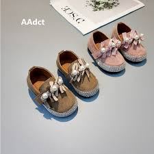 <b>Aadct 2018 Autumn New</b> Baby Girls Shoes Suede Toddler Little ...