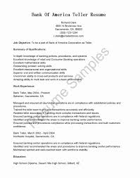 Resume For Banking Jobs Best Of Resumes For Banking Jobs Fresh Resumes For A Bank Teller Lovely Bank