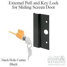 full image for external pull and key lock sliding patio door international black sliding glass door