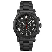 ralph lauren 45mm black ceramic chronograph in black for men lyst gallery