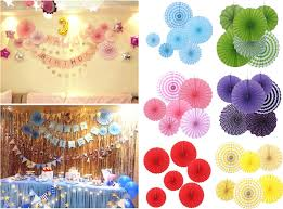 Paper Flower Pinwheels Tissue Paper Cut Out Paper Fans Pinwheels Hanging Flower Paper