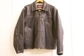 1 8 mens andrew marc leather coat jacket large