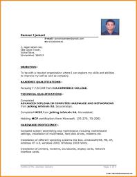 Sample Resume Free Download In Word Format Resume Resume Format Word