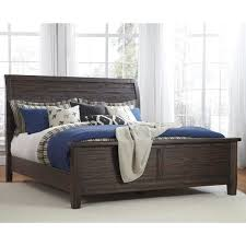 Dawson Clove Upholstered Sleigh Bed