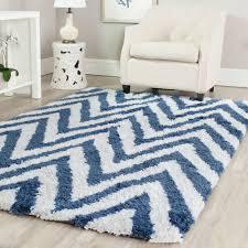 safavieh chevron ivory blue 10 ft x 14 ft area rug