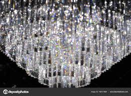 Kristall Kronleuchter Abstrakten Hintergrund Stockfoto