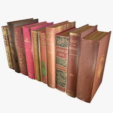 old books type 11 low poly 3d model low poly obj 3ds fbx blend dae