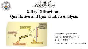 X Ray Diffraction Qualitative And Quantitative Analysis