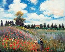 famous canvas wall oil painting reion poppy field in argenteuil by claude monet wall art for