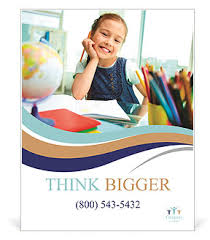 education poster templates image of a little schoolgirl poster template design id 0000008589
