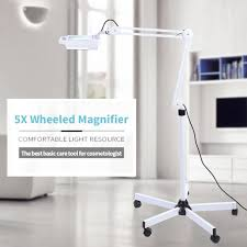 lighted magnifying glass on floor stand led 5x magnifying floor lamp lighted magnifier light stand magnifier