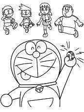 Help out the cat and complete picture. Doraemon Coloring Pages Coloringpagesonly Com
