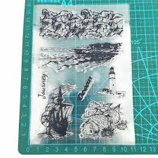 <b>Sailing Boat Lighthouse Silicone</b> Clear Seal Stamp DIY ...