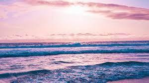 Pink Beach Desktop Wallpaper