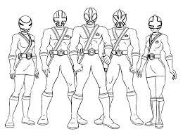 Power Ranger Ninja Coloring Pages Rangers Samurai Awesome Sheet Of