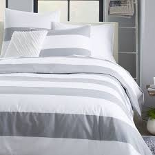 gray and white striped duvet 8696 with cover design 14