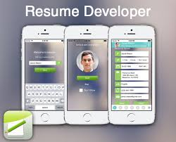 app resume resume developer create resume on the go the app entrepreneur