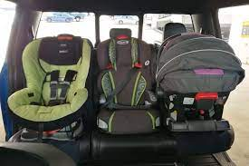 how to fit car seats 3 across in a row