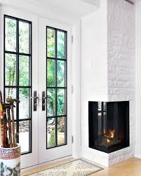 white brick stone corner fireplace design ideas photos traditional best designs
