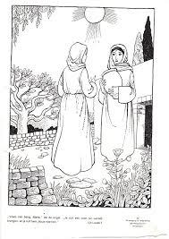 Maria Bezoekt Elisabeth Kleurplaten Bijbel Kleurplaten