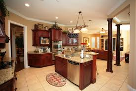 Kitchen With Wood Columns Makes This Kitchen Unusual.