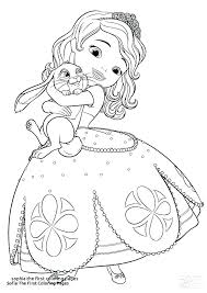 Sofia The First Printable Coloring Pages Free The First Printable