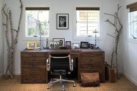 neutral office decor. Rustic Office Decor Home With Neutral Colors Wall Art Rug Design Ideas D