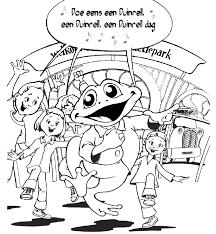 Pretpark Kinder Kleurplaten Duinrell