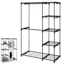 whitmor freestanding portable closet organizer heavy duty black steel frame