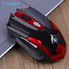 <b>T WOLF</b> Q7 Silent Wireless Optical Mouse Gamer 2.4GHz PC ...