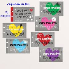 diy coupon book coupon book for kids love you to the moon and back set of 23 coupons printable pdf diy children s valentine gift coupon book