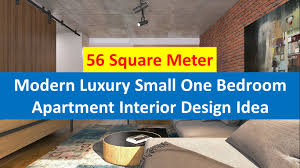 Modern Luxury Small One Bedroom Apartment Interior Design Idea - One bedroom apartment interior desig