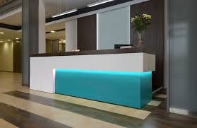... Bespoke Reception Counter Lit Inset ...