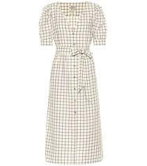 Exclusive To Mytheresa Alma Checked Cotton Midi Dress