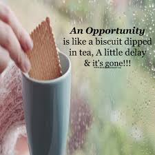 An Opportunity Is Like A Biscuit Dipped In Tea Best English